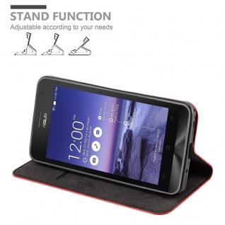 Cadorabo Hülle für Asus ZenFone 5 2014 in APFEL ROT - Handyhülle mit Magnetverschluss, Standfunktion und Kartenfach - Case Cover Schutzhülle Etui Tasche Book Klapp Style - Vorschau 4