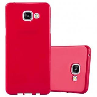 Cadorabo Hülle für Samsung Galaxy A3 2016 in JELLY ROT ? Handyhülle aus flexiblem TPU Silikon ? Silikonhülle Schutzhülle Ultra Slim Soft Back Cover Case Bumper