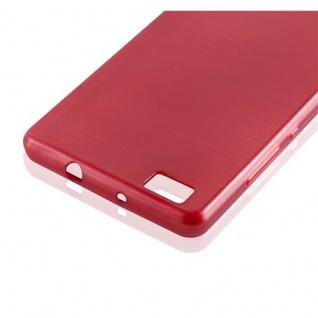 Cadorabo Hülle für Huawei P8 LITE 2015 in ROT - Handyhülle aus flexiblem TPU Silikon - Silikonhülle Schutzhülle Ultra Slim Soft Back Cover Case Bumper - Vorschau 4
