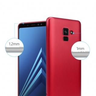 Cadorabo Hülle für Samsung Galaxy A8 2018 in METALLIC ROT - Handyhülle aus flexiblem TPU Silikon - Silikonhülle Schutzhülle Ultra Slim Soft Back Cover Case Bumper - Vorschau 4