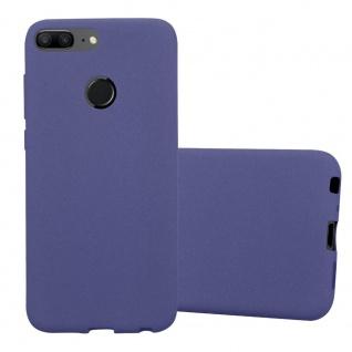 Cadorabo Hülle für Honor 9 LITE in FROST DUNKEL BLAU Handyhülle aus flexiblem TPU Silikon Silikonhülle Schutzhülle Ultra Slim Soft Back Cover Case Bumper