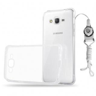 Cadorabo ? TPU Ultra Slim Silikon Schutz-Hülle für Samsung Galaxy GRAND PRIME mit Sling (Schlaufe) in KOPMPLETT-TRANSPARENT