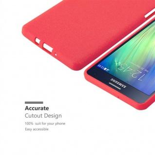 Cadorabo Hülle für Samsung Galaxy A7 2015 in FROST ROT - Handyhülle aus flexiblem TPU Silikon - Silikonhülle Schutzhülle Ultra Slim Soft Back Cover Case Bumper - Vorschau 3