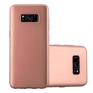 Cadorabo Hülle für Samsung Galaxy S8 in METALLIC ROSE GOLD Handyhülle aus flexiblem TPU Silikon Silikonhülle Schutzhülle Ultra Slim Soft Back Cover Case Bumper