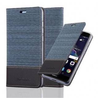 Cadorabo Hülle für Huawei P8 LITE 2017 in DUNKEL BLAU SCHWARZ - Handyhülle mit Magnetverschluss, Standfunktion und Kartenfach - Case Cover Schutzhülle Etui Tasche Book Klapp Style