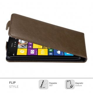 Cadorabo Hülle für Nokia Lumia 1520 in KAFFEE BRAUN - Handyhülle im Flip Design mit unsichtbarem Magnetverschluss - Case Cover Schutzhülle Etui Tasche Book Klapp Style - Vorschau 2