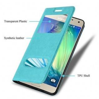 Cadorabo Hülle für Samsung Galaxy A3 2015 in MINT TÜRKIS ? Handyhülle mit Magnetverschluss, Standfunktion und 2 Sichtfenstern ? Case Cover Schutzhülle Etui Tasche Book Klapp Style - Vorschau 3