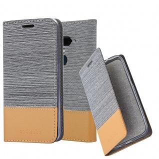 Cadorabo Hülle für HTC U12+ (Plus-Version) in HELL GRAU BRAUN - Handyhülle mit Magnetverschluss, Standfunktion und Kartenfach - Case Cover Schutzhülle Etui Tasche Book Klapp Style
