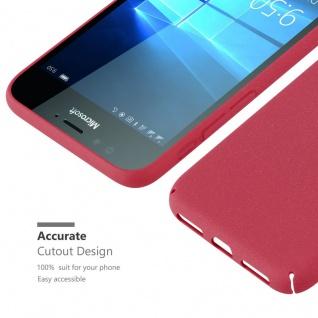Cadorabo Hülle für Nokia Lumia 950 in FROSTY ROT - Hardcase Handyhülle aus Plastik gegen Kratzer und Stöße - Schutzhülle Bumper Ultra Slim Back Case Hard Cover - Vorschau 5