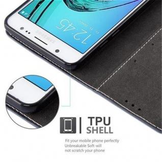 Cadorabo Hülle für Samsung Galaxy J5 2016 in DUNKEL BLAU BRAUN ? Handyhülle mit Magnetverschluss, Standfunktion und Kartenfach ? Case Cover Schutzhülle Etui Tasche Book Klapp Style - Vorschau 2