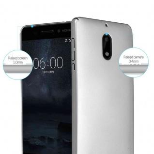 Cadorabo Hülle für Nokia 6 2017 in METALL SILBER - Hardcase Handyhülle aus Plastik gegen Kratzer und Stöße - Schutzhülle Bumper Ultra Slim Back Case Hard Cover - Vorschau 2