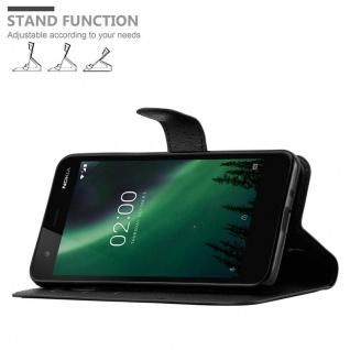 Cadorabo Hülle für Nokia 2 in PHANTOM SCHWARZ - Handyhülle mit Magnetverschluss, Standfunktion und Kartenfach - Case Cover Schutzhülle Etui Tasche Book Klapp Style - Vorschau 5