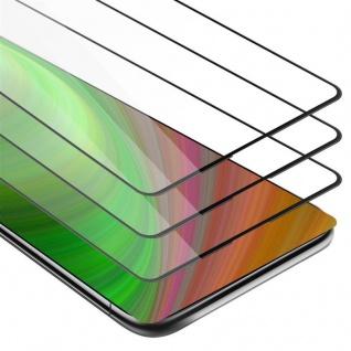Cadorabo 3x Vollbild Panzer Folie für Xiaomi MIX 2S - Schutzfolie in TRANSPARENT mit SCHWARZ - 3er Pack Gehärtetes (Tempered) Display-Schutzglas in 9H Härte mit 3D Touch