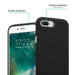 Cadorabo Hülle für Apple iPhone 6 PLUS / 7 PLUS / 8 PLUS in DAHLIEN SCHWARZ ? Outdoor Handyhülle mit extra Grip Anti Rutsch Oberfläche im Triangle Design aus Silikon und Kunststoff - Schutzhülle Hybrid Hardcase Back Case - Vorschau 2
