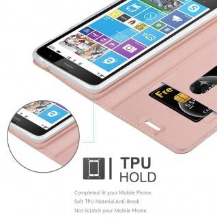 Cadorabo Hülle für Nokia Lumia 1320 in CLASSY ROSÉ GOLD - Handyhülle mit Magnetverschluss, Standfunktion und Kartenfach - Case Cover Schutzhülle Etui Tasche Book Klapp Style - Vorschau 2