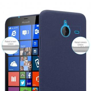 Cadorabo Hülle für Nokia Lumia 640 XL in FROSTY BLAU - Hardcase Handyhülle aus Plastik gegen Kratzer und Stöße - Schutzhülle Bumper Ultra Slim Back Case Hard Cover - Vorschau 2