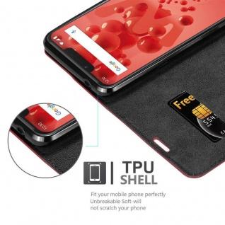 Cadorabo Hülle für WIKO VIEW 2 PLUS in APFEL ROT - Handyhülle mit Magnetverschluss, Standfunktion und Kartenfach - Case Cover Schutzhülle Etui Tasche Book Klapp Style - Vorschau 2