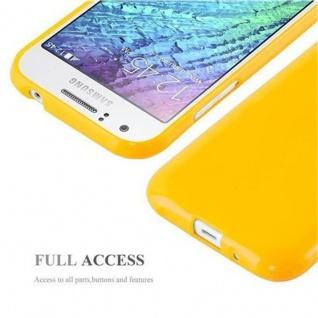 Cadorabo Hülle für Samsung Galaxy J1 2015 in JELLY GELB - Handyhülle aus flexiblem TPU Silikon - Silikonhülle Schutzhülle Ultra Slim Soft Back Cover Case Bumper - Vorschau 4