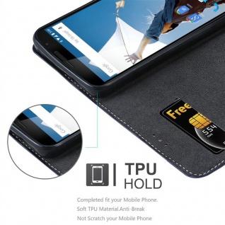 Cadorabo Hülle für Motorola NEXUS 6 in DUNKEL BLAU BRAUN ? Handyhülle mit Magnetverschluss, Standfunktion und Kartenfach ? Case Cover Schutzhülle Etui Tasche Book Klapp Style