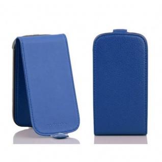 Cadorabo Hülle für Samsung Galaxy S4 MINI in KÖNIGS BLAU - Handyhülle im Flip Design aus strukturiertem Kunstleder - Case Cover Schutzhülle Etui Tasche Book Klapp Style - Vorschau 2