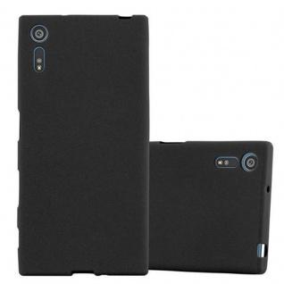 Cadorabo Hülle für Sony Xperia XZ / XZs - Hülle in FROST SCHWARZ ? Handyhülle aus TPU Silikon im matten Frosted Design - Ultra Slim Soft Backcover Case Bumper
