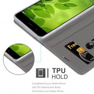 Cadorabo Hülle für Huawei NOVA 2 in HELL GRAU BRAUN - Handyhülle mit Magnetverschluss, Standfunktion und Kartenfach - Case Cover Schutzhülle Etui Tasche Book Klapp Style - Vorschau 2