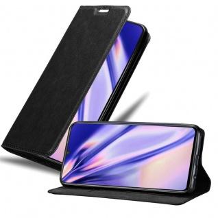 Cadorabo Hülle für Vivo V11 in NACHT SCHWARZ - Handyhülle mit Magnetverschluss, Standfunktion und Kartenfach - Case Cover Schutzhülle Etui Tasche Book Klapp Style