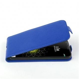 Cadorabo Hülle für LG G5 in KÖNIGS BLAU - Handyhülle im Flip Design aus strukturiertem Kunstleder - Case Cover Schutzhülle Etui Tasche Book Klapp Style