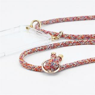 Cadorabo Handy Kette für Oppo A12 in COLORFUL PARROT Silikon Necklace Umhänge Hülle mit Gold Ringen, Kordel Band Schnur und abnehmbarem Etui Schutzhülle - Vorschau 3