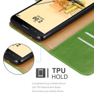 Cadorabo Hülle für LG STYLUS 2 in GRAS GRÜN - Handyhülle mit Magnetverschluss, Standfunktion und Kartenfach - Case Cover Schutzhülle Etui Tasche Book Klapp Style - Vorschau 3