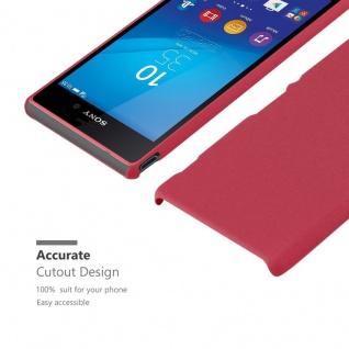 Cadorabo Hülle für Sony Xperia M4 AQUA in FROSTY ROT - Hardcase Handyhülle aus Plastik gegen Kratzer und Stöße - Schutzhülle Bumper Ultra Slim Back Case Hard Cover - Vorschau 5