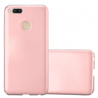 Cadorabo Hülle für Xiaomi Mi A1 / 5X in METALL ROSÉ GOLD - Hardcase Handyhülle aus Plastik gegen Kratzer und Stöße - Schutzhülle Bumper Ultra Slim Back Case Hard Cover