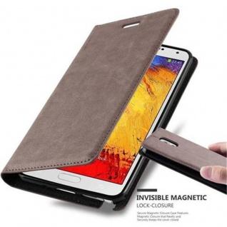Cadorabo Hülle für Samsung Galaxy NOTE 3 in KAFFEE BRAUN - Handyhülle mit Magnetverschluss, Standfunktion und Kartenfach - Case Cover Schutzhülle Etui Tasche Book Klapp Style