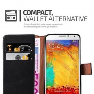 Cadorabo Hülle für Samsung Galaxy NOTE 3 in GRAPHIT SCHWARZ ? Handyhülle mit Magnetverschluss, Standfunktion und Kartenfach ? Case Cover Schutzhülle Etui Tasche Book Klapp Style - Vorschau 3