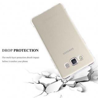 Cadorabo Hülle für Samsung Galaxy A5 2015 - Hülle in KOMPLETT TRANSPARENT ? Handyhülle aus TPU Silikon mit Schlaufe im Small Waist Design - Silikonhülle Schutzhülle Ultra Slim Soft Back Cover Case Bumper - Vorschau 5