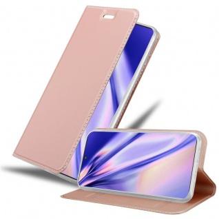 Cadorabo Hülle für Samsung Galaxy NOTE 10 PLUS in CLASSY ROSÉ GOLD Handyhülle mit Magnetverschluss, Standfunktion und Kartenfach Case Cover Schutzhülle Etui Tasche Book Klapp Style