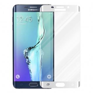 Cadorabo Vollbild Panzer Folie für Samsung Galaxy S6 EDGE PLUS - Schutzfolie in TRANSPARENT mit WEISS - Gehärtetes (Tempered) Display-Schutzglas in 9H Härte mit 3D Touch Kompatibilität - Vorschau 2