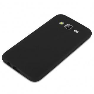 Cadorabo Hülle für Samsung Galaxy J5 2015 in CANDY SCHWARZ - Handyhülle aus flexiblem TPU Silikon - Silikonhülle Schutzhülle Ultra Slim Soft Back Cover Case Bumper - Vorschau 4