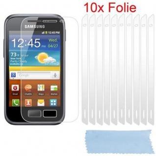 Cadorabo Displayschutzfolien für Samsung Galaxy ACE 2 - Schutzfolien in HIGH CLEAR ? 10 Stück hochtransparenter Schutzfolien gegen Staub, Schmutz und Kratzer