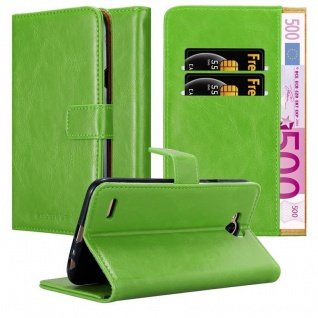 Cadorabo Hülle für LG X Power 2 in GRAS GRÜN - Handyhülle mit Magnetverschluss, Standfunktion und Kartenfach - Case Cover Schutzhülle Etui Tasche Book Klapp Style