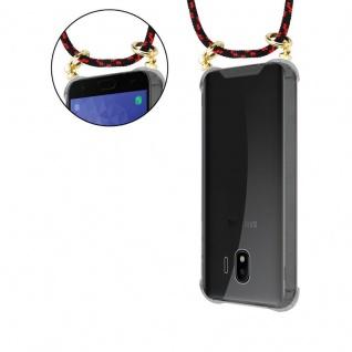 Cadorabo Handy Kette für Samsung Galaxy J4 2018 in SCHWARZ ROT - Silikon Necklace Umhänge Hülle mit Gold Ringen, Kordel Band Schnur und abnehmbarem Etui ? Schutzhülle - Vorschau 5