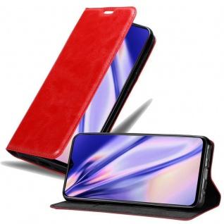 Cadorabo Hülle für OPPO R17 in APFEL ROT Handyhülle mit Magnetverschluss, Standfunktion und Kartenfach Case Cover Schutzhülle Etui Tasche Book Klapp Style