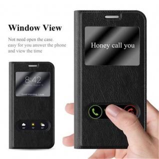 Cadorabo Hülle für Samsung Galaxy S6 in KOMETEN SCHWARZ - Handyhülle mit Magnetverschluss, Standfunktion und 2 Sichtfenstern - Case Cover Schutzhülle Etui Tasche Book Klapp Style - Vorschau 2