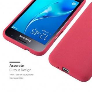 Cadorabo Hülle für Samsung Galaxy J1 2016 in FROST ROT - Handyhülle aus flexiblem TPU Silikon - Silikonhülle Schutzhülle Ultra Slim Soft Back Cover Case Bumper - Vorschau 2