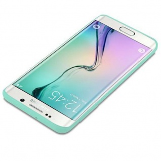 Cadorabo Hülle für Samsung Galaxy S6 EDGE in CANDY BLAU - Handyhülle aus flexiblem TPU Silikon - Silikonhülle Schutzhülle Ultra Slim Soft Back Cover Case Bumper - Vorschau 3