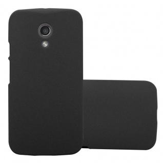 Cadorabo Hülle für Motorola MOTO Z2 in FROSTY SCHWARZ - Hardcase Handyhülle aus Plastik gegen Kratzer und Stöße - Schutzhülle Bumper Ultra Slim Back Case Hard Cover