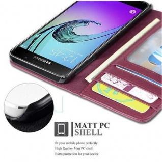Cadorabo Hülle für Samsung Galaxy A3 2016 in BORDEAUX LILA - Handyhülle mit Magnetverschluss und 3 Kartenfächern - Case Cover Schutzhülle Etui Tasche Book Klapp Style - Vorschau 3