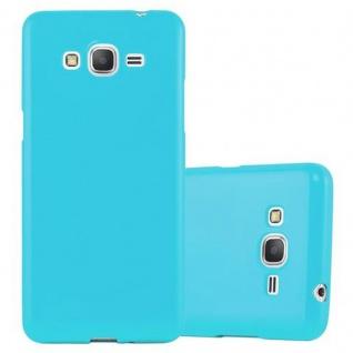 Cadorabo Hülle für Samsung Galaxy GRAND PRIME in JELLY HELL BLAU - Handyhülle aus flexiblem TPU Silikon - Silikonhülle Schutzhülle Ultra Slim Soft Back Cover Case Bumper