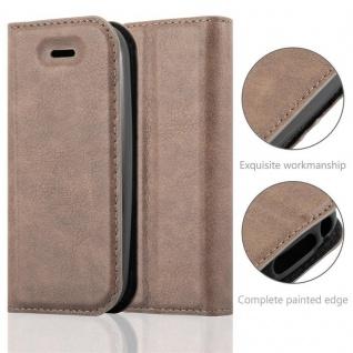 Cadorabo Hülle für Nokia 105 DUAL in KAFFEE BRAUN - Handyhülle mit Magnetverschluss, Standfunktion und Kartenfach - Case Cover Schutzhülle Etui Tasche Book Klapp Style - Vorschau 2