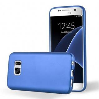Cadorabo Hülle für Samsung Galaxy S7 in METALLIC BLAU - Handyhülle aus flexiblem TPU Silikon - Silikonhülle Schutzhülle Ultra Slim Soft Back Cover Case Bumper